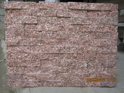 red granite ledgestone