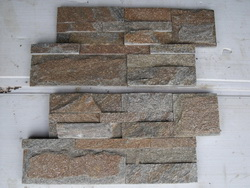 rusty quartzite stacked wall stone veneer