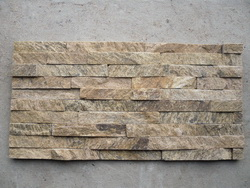 yellow quartzite ledge wall stone panel