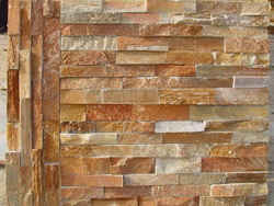 golden sunset slate ledge stone