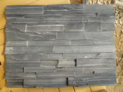 black slate rough surface wall cladding stone