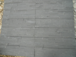 black slate ledge wall stone