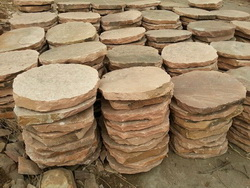 red sandstone step paving flagstone